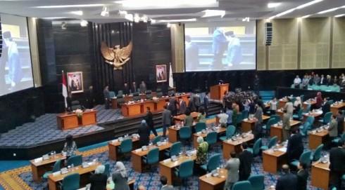 Suasana Saat Sidang Paripurna di DPRD DKI Jakarta