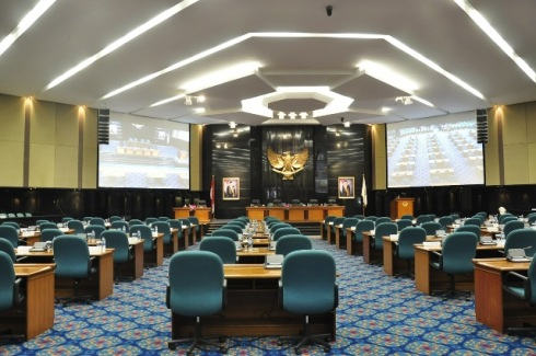 Bagian Dalam Ruang Sidang Paripurna DPRD DKI Jakarta tahun 2012
