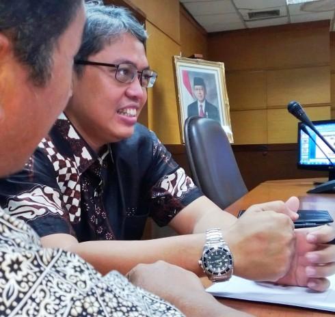 Bang Sani Triwisaksana saat Kunker ke Dinas PU
